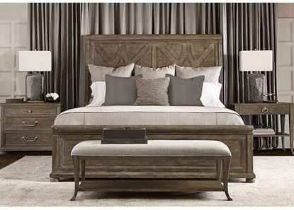 Rustic Patina Bedroom Collection in a Peppercorn finish by Bernhardt furniture