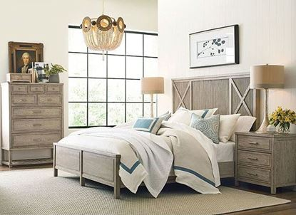 West Fork Bedroom Collection with Canton Panel Bed by American Drew furniture