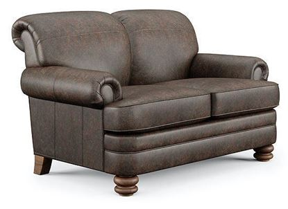 Bay Bridge Leather Loveseat B3790-20 from Flexsteel furniture