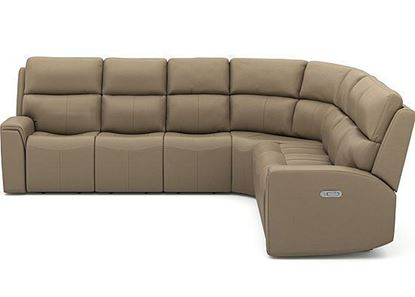 Jarvis Power Reclining Sectional with Power Headrest 1828-SECTPH from Flexsteel furniture