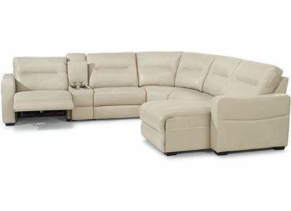 Monet Power Reclining Leather Sectional (1891-SECTPH) from Flexsteel furniture
